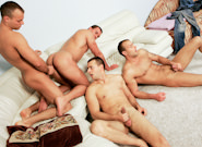 Gay Orgy GroupSex : Sofa Scene - Jason Visconti -amp; Jimmy Visconti -amp; Joey Visconti!