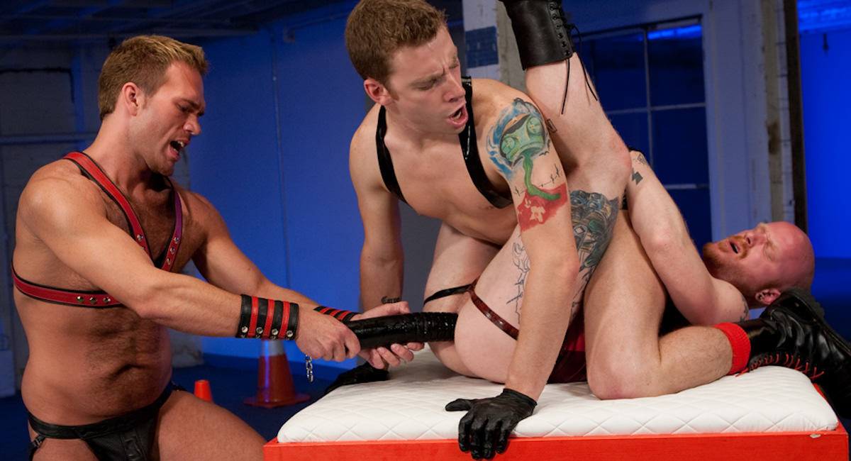 Gay Fisting Fuck : took The Plunge - Sebastian Keys -amp; Trent Bloom -amp; Brock Rustin