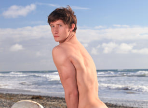 Lance Alexander on the Beach
