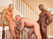 Gay Ebony Studs : Contract Work - Marc Williams -amp; Jordano Santoro -amp; Jordan Deep!