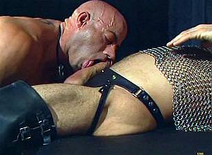 Leather Daddies Gang Banging Brad Benton, Scene #01