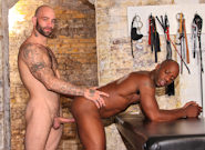 Gay Ebony Studs : Bound, Whipped and Fucked - Sam Swift -amp; Race Cooper!