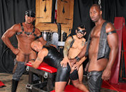 Gay Ebony Studs : Lesson for cheater female prostitute - Nubius -amp; Luc Bonay -amp; Draven Torres -amp; Aron Ridge!