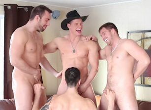 Behind The Scenes: 1st Anniversary Gang Bang!