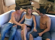 Threesome on the sofa!