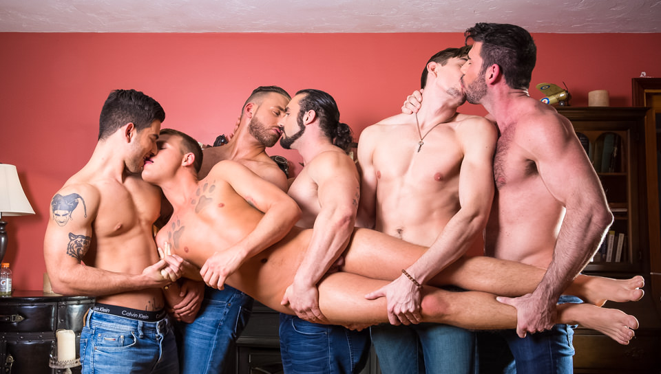 Brandon Wilde's First Gangbang, Scene #01