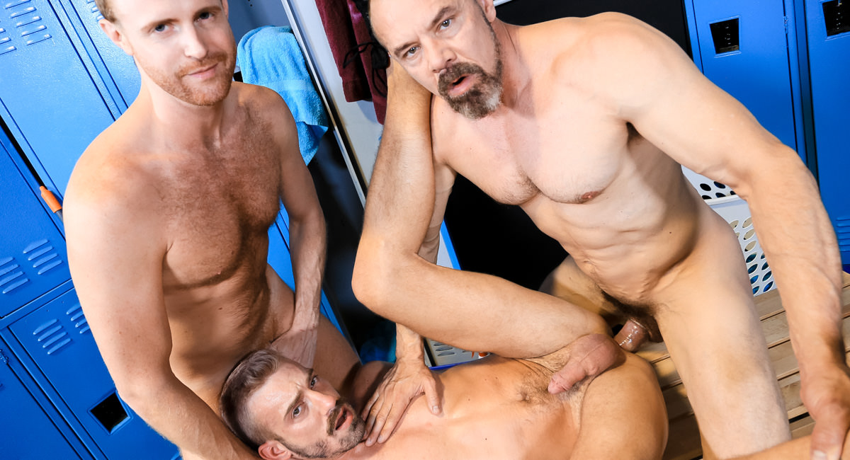 Extra Big Dicks: Max Sargent, Jack Gunther & Jett Rink - Coach's Big Cock