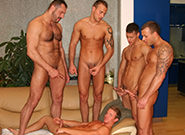 Gay Orgy GroupSex : Welcum To America - Jason Visconti -amp; Jimmy Visconti -amp; Joey Visconti -amp; Arpad Miklos -amp; Tory Mason!