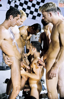 Nine Man Hazing Orgy - Oral Picture